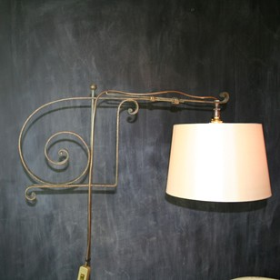Vintage French Wrought Iron Floor Lamp