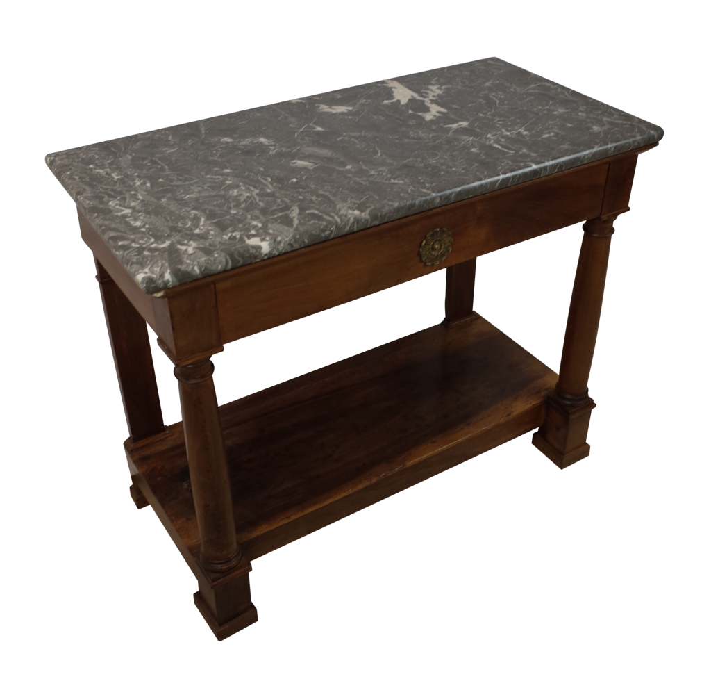 empire marble topped console decorative collective. Black Bedroom Furniture Sets. Home Design Ideas