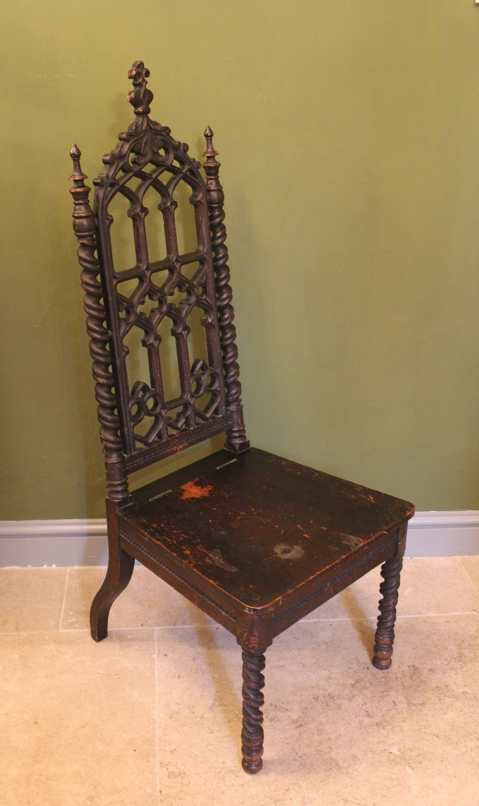 Victorian gothic revival hall chair decorative collective for Victorian gothic chair