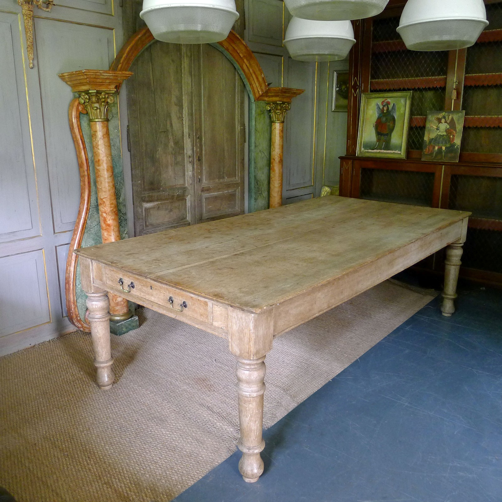 19th century pale oak farmhouse table 12 seater for 10 seater farmhouse table