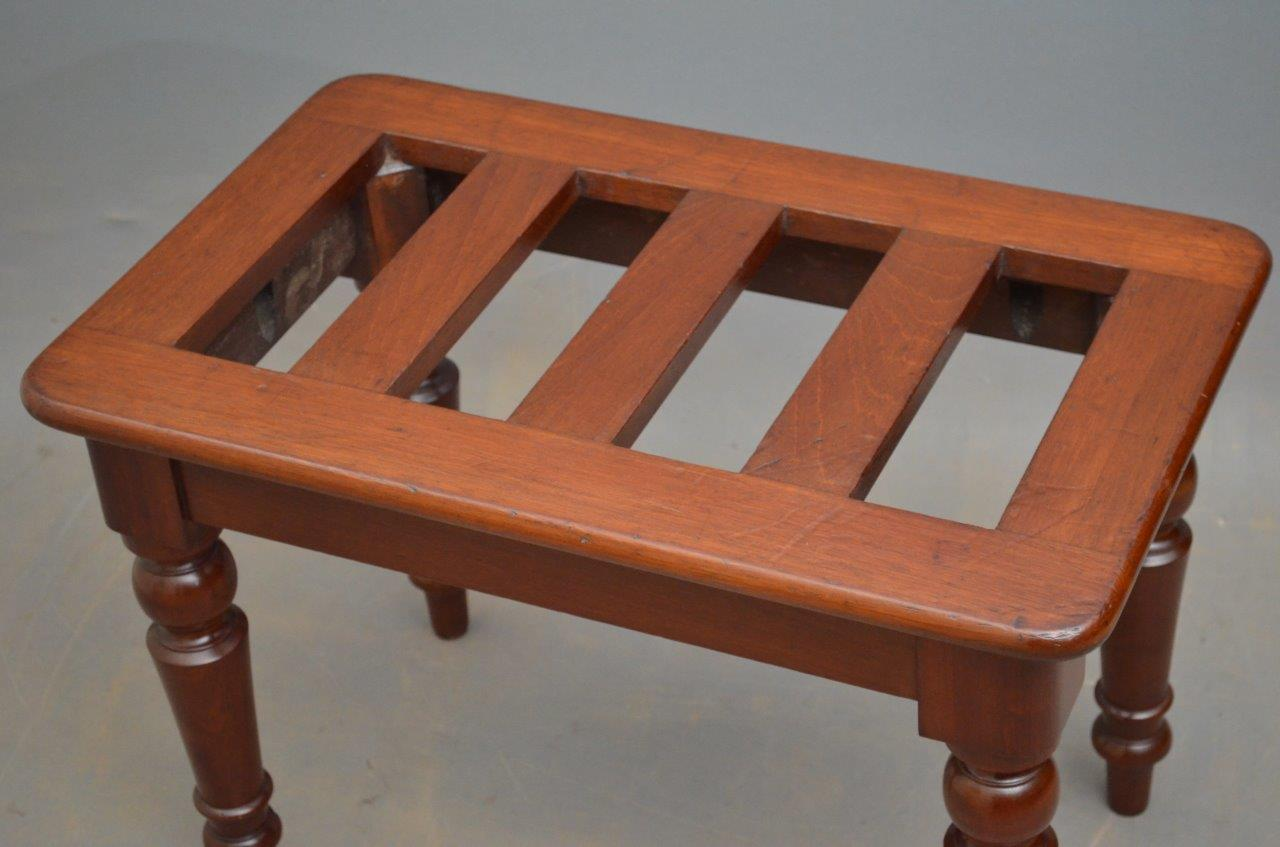 Victorian Luggage Rack Mahogany Bench Decorative Collective
